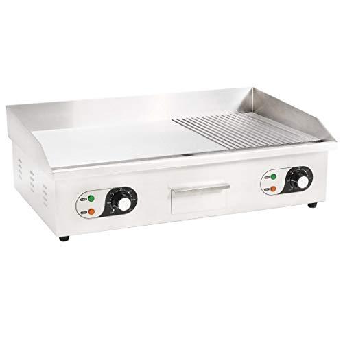Festnight Plancha Eléctrica de Cocina Acero Inoxidable, con un Controlador de Temperatura...