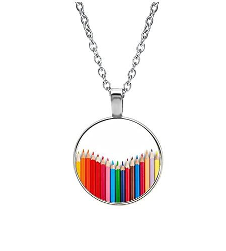 Halskette Glas - Bleistifte