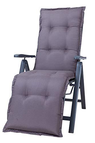 Kettler Polen KETTtex 2085 Auflage Relaxliegen Florence Taupe-grau Sitzpolster 168x49x8 cm (ohne Liege)