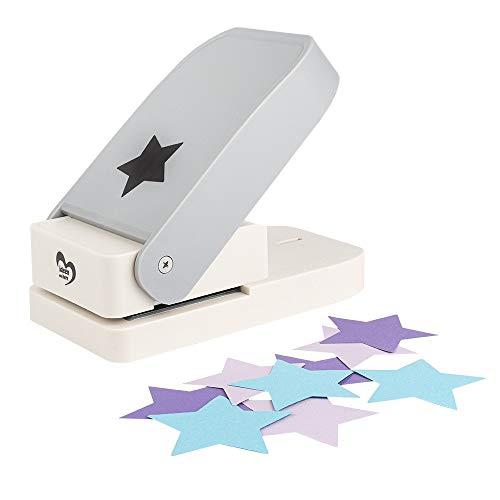 Jumbo-Stanzer | Stern | Motivstanzer | Motivlocher für Papier | Kreiere z.B. Grußkarten oder Geschenkanhänger zur Weihnachtszeit | Ausstanzung: Ø 6,3 cm