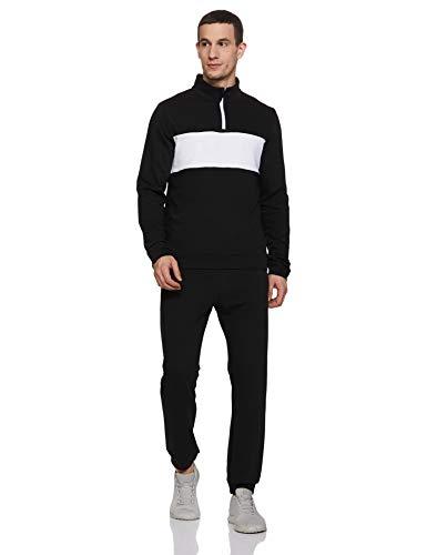 Reebok TE Linear Logo TS Long sleeve Regular/Slim Fit Tracksuit, Black,X-Large
