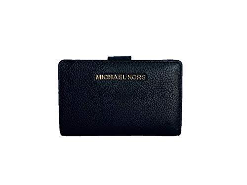 Michael Kors Jet Set Travel Medium Bifold Zip Coin Wallet - Black