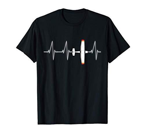 Regalo de avión Piloto Heartbeat Airplane Camiseta