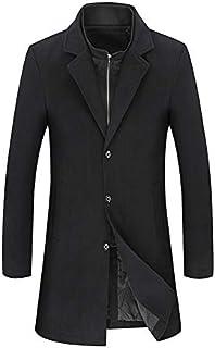 liming Hair Coat Plus Yard Autumn and Winter Coat Men's Coat Wind Long Coat 6XL Black