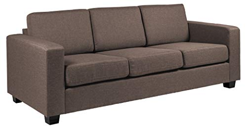 Amazon Brand - Movian Morat - Sofá de 3 plazas, 90 x 212 x 80 cm (largo x ancho x alto), marrón