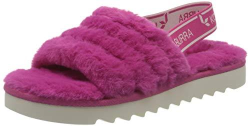 Koolaburra by UGG Kid's Fuzz'N Sandal, Raspberry Rose, 36 EU