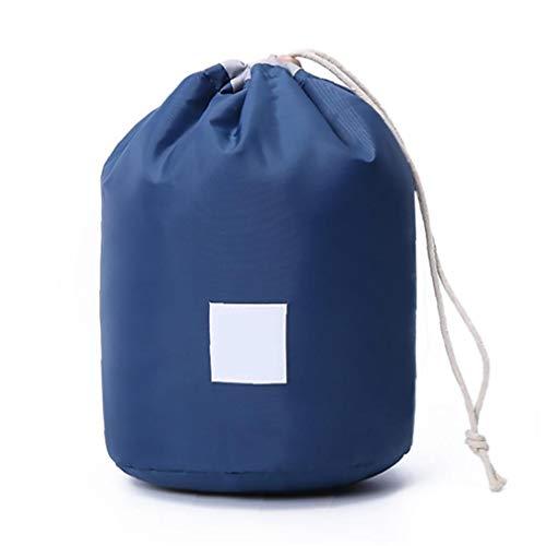 Viaje Bolsa de cosméticos de maquillaje barril productos de salud y belleza bolsa de nylon azul Mujeres multifuncional plegable de Tocador Cubo de calidad