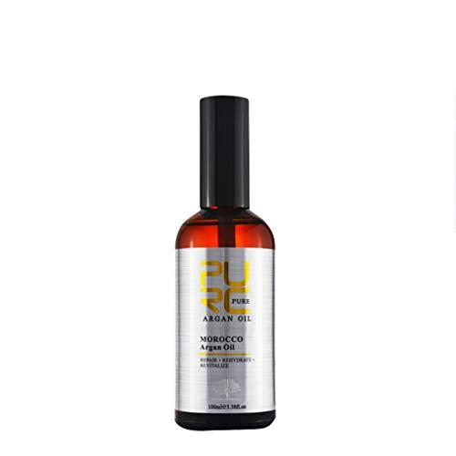 R-Cors Huile d'Argan du Maroc Hydrater Améliorer les cheveux abîmés et secs Réparer l'huile essentielle de soin capillaire teinté (Multicolore)