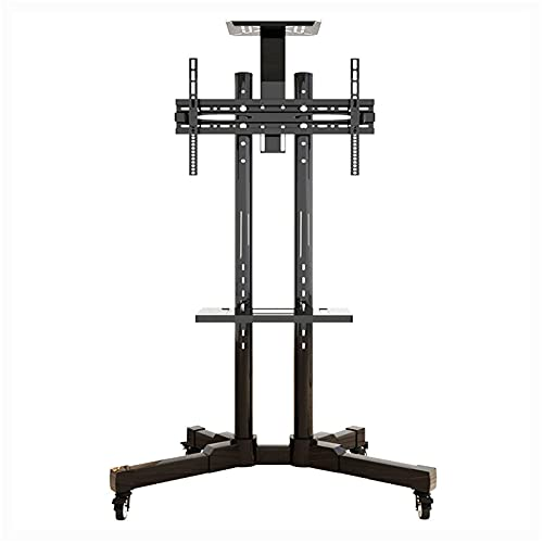 Swivel Universal TV Stand, Adjustable Height TV Mount Bracket with Swival Screen for 32-65 Inch TV,Load 75Kg Floor TV Cart with Tray