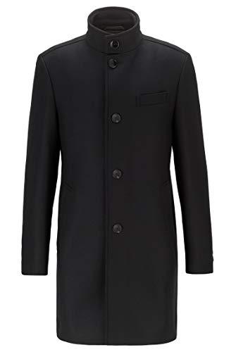 BOSS Herren Shanty3 Slim-Fit Mantel aus Woll-Mix mit Trichterkragen