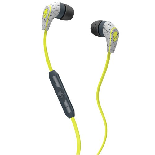 Skullcandy 50/50 In-Ear Kopfhörer mit Mikrofon - Dunkelgrau/Hellgrau/Hot Lime