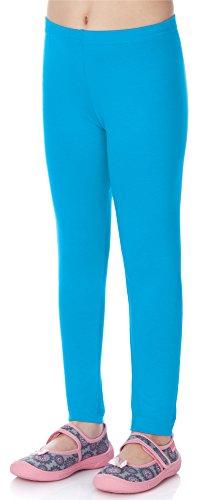 Merry Style Leggins Mallas Pantalones Largos Ropa Deportiva Niña MS10-130 (Azul, 116 cm)
