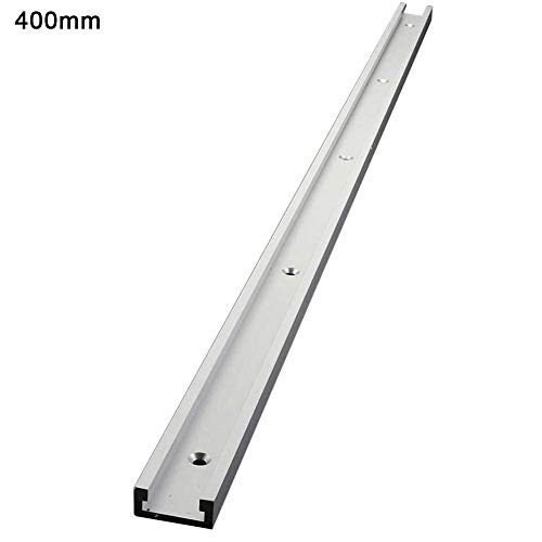 Ardentity Aluminiumlegierung T-Track T-Slot, 400/600/800/1000 mm Aluminium-Legierung T-Track für Holzbearbeitung oder Router Tischsäge