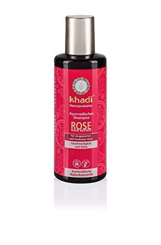 KHADI Shampooing ayurvédique réparateur Rose -