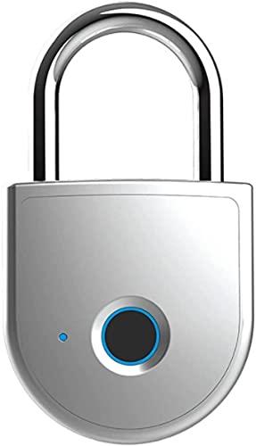 XUERUIGANG Candado de bloqueo de huellas dactilares Candado de huellas dactilares, impermeable y a prueba de polvo Cerradura inteligente a prueba de polvo USB de carga USB puede recoger 10 huellas dac