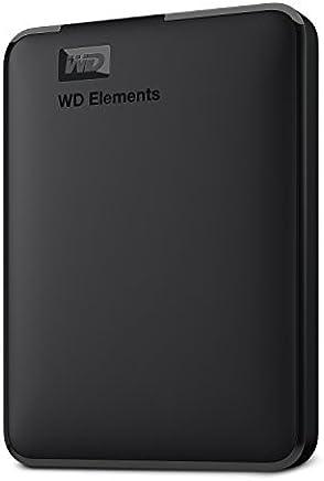 Western Digital Elements - Disco duro externo portátil de 1 TB con USB 3.0, color negro