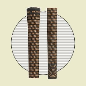 TAYLOR MADE BUBBLE, CROSSLINE GOLF GRIP. FOR USE ON OVERSIZE GOLF SHAFTS.