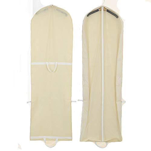 180cm/71inch Breathable Bridal Wedding Gown Dress Garment Bag Clothes Carry Cover with Zip for Women's Prom and Bridal Wedding Dresses