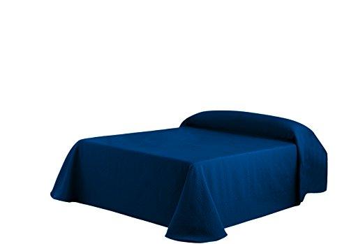 Eysa Sofaüberwurf/Bettüberwurf, 270cm, 75prozent Polyester, 25prozent Baumwolle, Tagesdecke, blau 03
