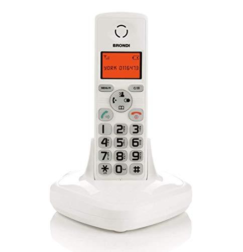 Brondi York Telefono Cordless, Bianco