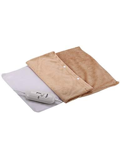 Almohadilla lumbar PVC (Fácil de limpiar'Cremas') - Funda lavable - Mando electrónico con 3 niveles de potencia - Sistema de seguridad autoapagado - Color Beige - Bastilipo - ALPVC-100