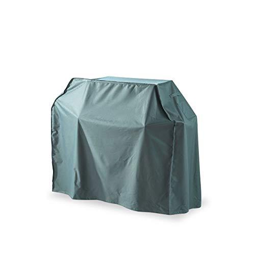 Lumaland Telo Copertura di Protezione per mobili da Giardino Impermeabile Copri Barbecue Griglia 125 (H) x 165 (L) x 63 sp cm Oxford 600D Verde/Grigio