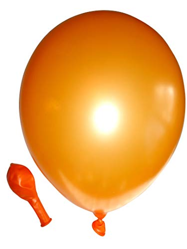 Belbal 50 Luftballons metallic orange Premiumqualität Ø ca. 27cm B85 (Standardgröße)