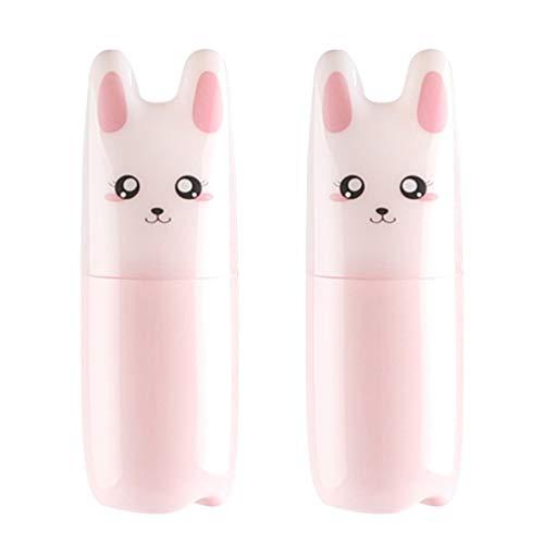 PRETYZOOM 2 Piezas Pulverizador de Niebla Botella Diseño de Gato Dispensador de Maquillaje Recargable Envases de Perfume Vacíos para Productos de Limpieza de Loción de Aceite Esencial 70 Ml (Rosa)