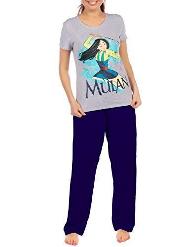 Disney Pijama para Mujer Mulan Gris Size XX-Large