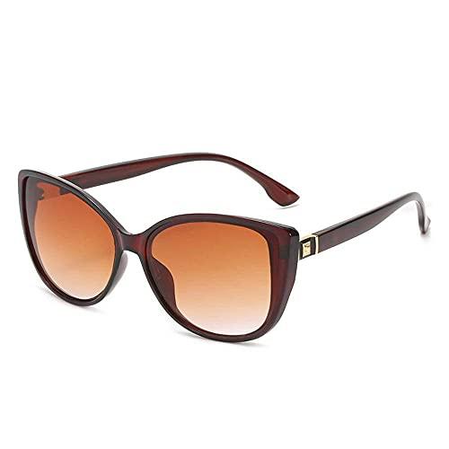 N\C Gafas de sol polarizadas con diseño de ojo de gato con montura grande para mujer, UV400