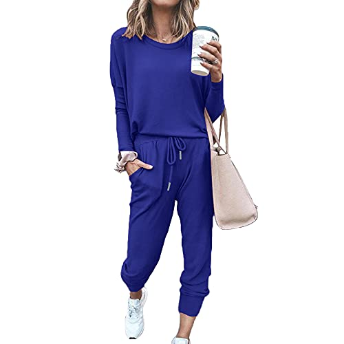 Lidardar Trajes de 2 piezas para ropa casual Sets de manga larga para mujer, 2-GRIS, XXL