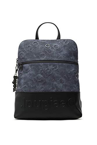 Desigual PU Backpack Medium, Gorilla Sports-Mochila de Poliuretano (tamaño Mediano) para Mujer, Azul