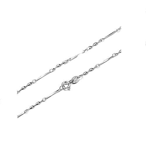 Aeici Mujer Collar de Ley 925 Cadena Retorcido Collar para Mujer Plata Largo 40Cm