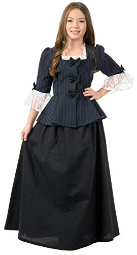 Charades Child's Colonial Girl Costume Dress, Medium
