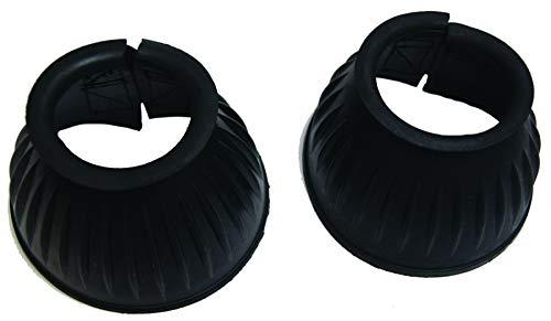 Arbo-Inox® - Springglocken - Gummi - schwarz - Klettverschluss -1 Paar (XL)