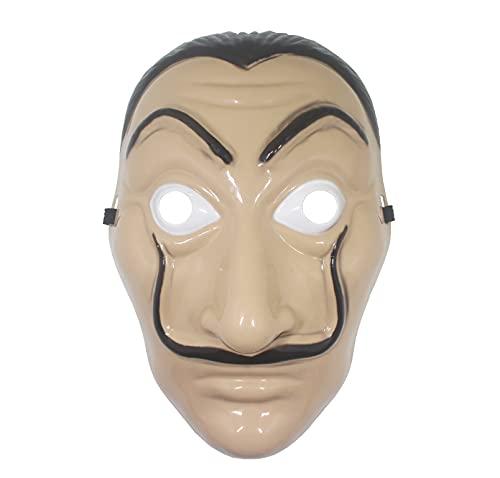 Udekit Salvador Dali Maschera per bambini Halloween Ringraziamento Pasqua Natale Ostüm Cosplay Masquerade Bar Decorazione (1Pezzi)