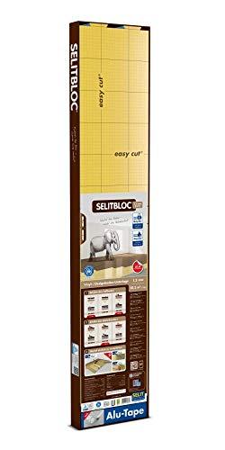 SELITBLOC 1,5 mm GripTec – 10,2 m² + Tape Verlegeunterlage für Vinyl- und Designböden mit rutschhemmender Oberfläche - Trittschalldämmung - auch für Fußbodenheizungen geeignet
