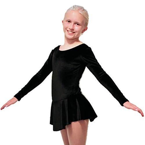 CRS Cross Eiskunstlauf-Kleid für Eislaufen, Tanzen, Rollschuhüben, Wettkampf oder Testen/Untersuchungen - Schwarz - X-Large
