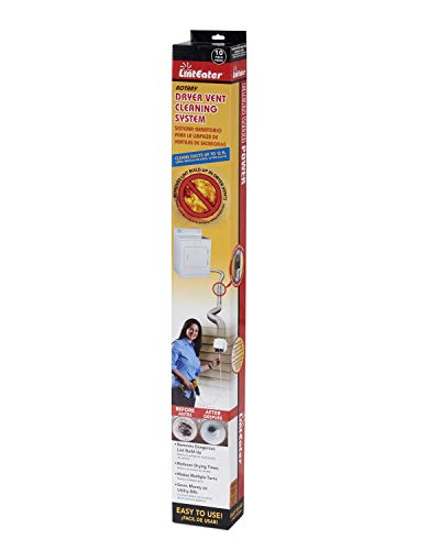 Gardus RLE202 LintEater Rotary Dryer Vent Cleaning System, Removes Lint & Extends Up to 12' with 4 Flexible 3' Rods, Includes Bonus Lint Trap Brush, Blockage Removal Tool, Vacuum & Dryer Adapters