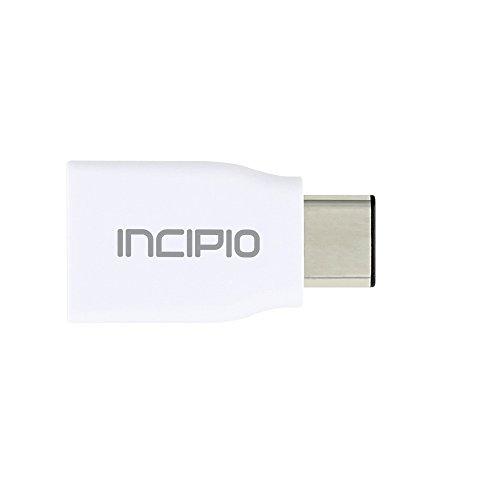 Incipio Super Slim Lade & Synchronisations Adapter (USB-C auf USB 3.0) für z.B. Apple MacBook (ab 09/2015), OnePlus3T, Samsung Galaxy A3/A5 (2017), Huawei P9, Google Pixel - PW-249-WHT