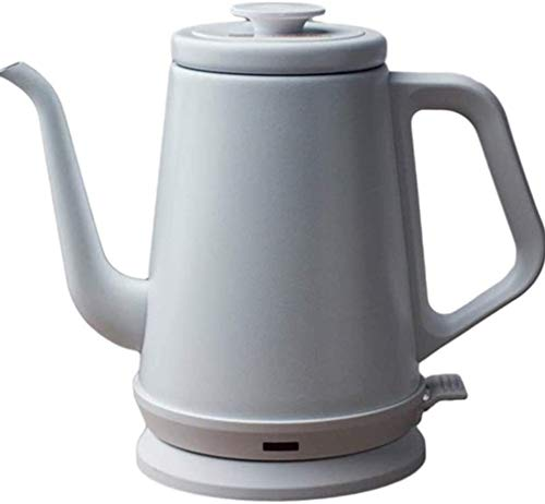 Bouilloire induction Bouilloire électrique en acier inoxydable en acier inoxydable électrique 220V Bouilloire classique de ménage Théière à eau de 1000 ml blanc WHLONG