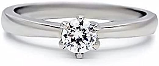 1000 Jewels Maylene: 0.5ct Brilliant Cut Russian Ice on Fire CZ Promise Friendship Ring 316 Steel, 3064