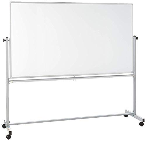 Offex Mobile Magnetic Large Whiteboard on Wheels, Free Standing Double-Sided Dry Erase White Board for Teachers, Students, Children, Classroom, Office - 72'W x 40'H