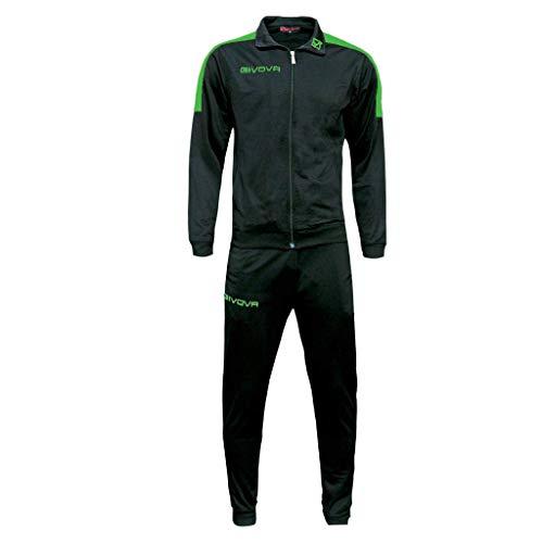 Givova TR033, Unisex Adulto, Nero/Verde, XL