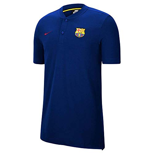NIKE FC Barcelona Temporada 2020/21-FCB M NSW Modern GSP AUTCK9330-457 Polo, Unisex, Deep Royal Blue/Noble Red/Noble Red no spon-Coach