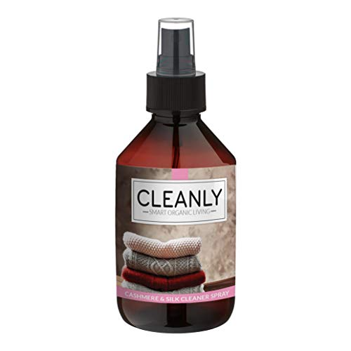 CLEANLY Cashmere and Silk Cleaner Spray I 8.45 Fl Oz I Stain Removal and Maintenance for Clothes I Contains Organic Lemon and Cedarwood Essential Oil I Also Repel Moths from Your Laundry