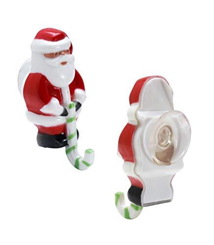 8 ventouses Père-Noël pour guirlandes