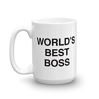 The Office World s Best Boss Dunder Mifflin Ceramic Mug White 15 oz - Official Michael Scott Mug As Seen On The Office