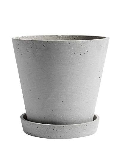 HAY - bloempot met onderzetter XXL, grijs