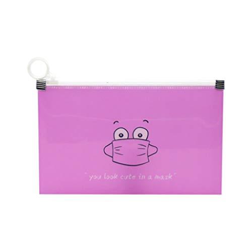99native Face Cover Aufbewahrungsbox Maskenbox Tragbare Kunststoffbox, Wasserdichte Gesichtsmasken Organizer Staubdichter Faltbarer Reinigungsbeutel,Schutzhülle Maskenhalter Organizer (Pink)